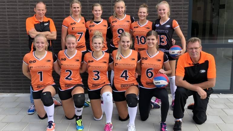 Dynamo dames 1 wint nu ook in eigen hal!
